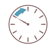 Image showing clock with arrow covering the hours of 10pm to midnight