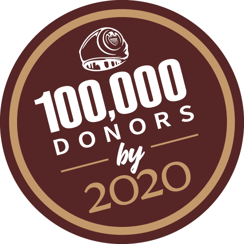 100,000 donors by the end of 2020