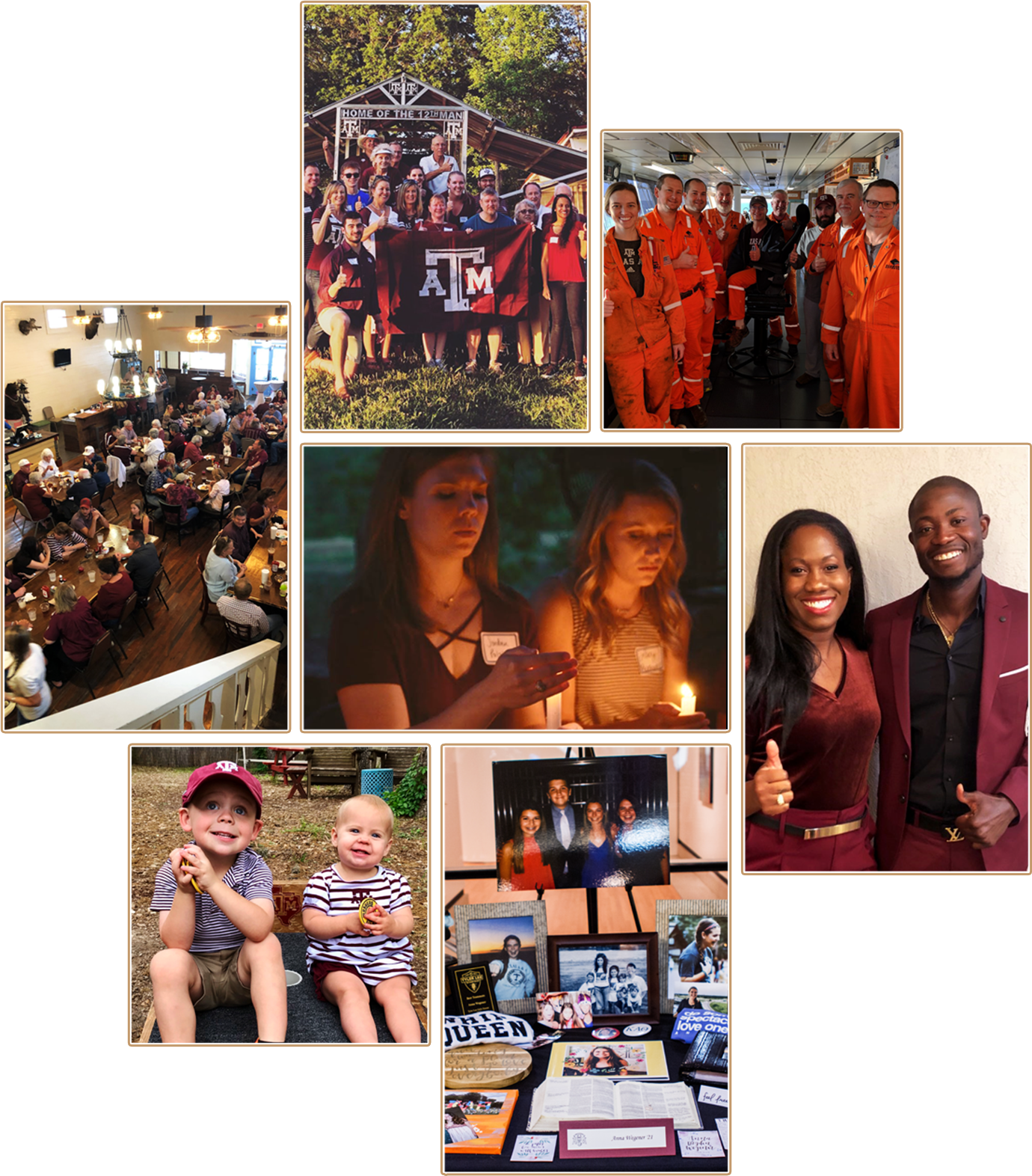 A collage of photos showing scenes from Muster celebrations around the world.