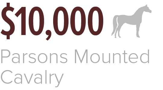 In 2019 the Association of Former Students provided $10,000 to Parsons Mounted Cavalry