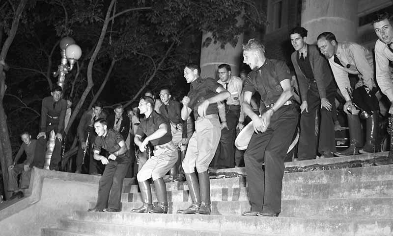 Yell Practice at the YMCA building circa 1940