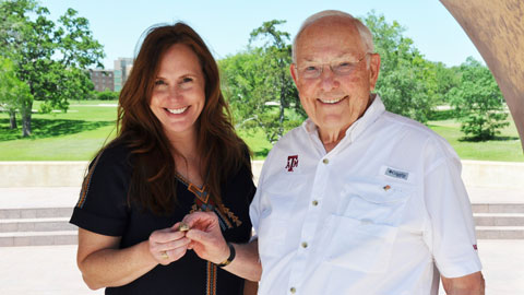 Fallen Aggie Marine's Ring Replaced