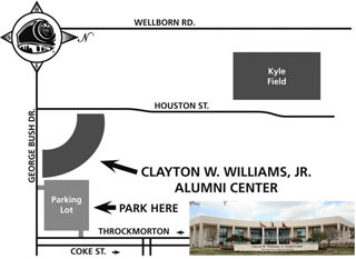 Map to the Alumni Center