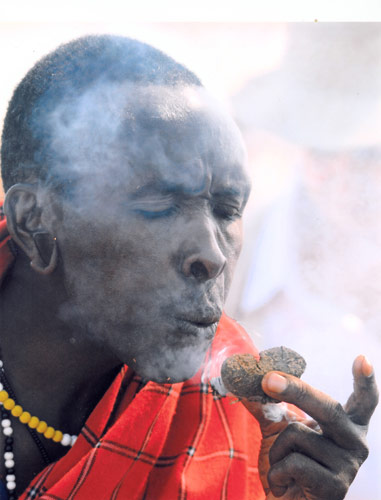 Masai Warrior Creating Fire