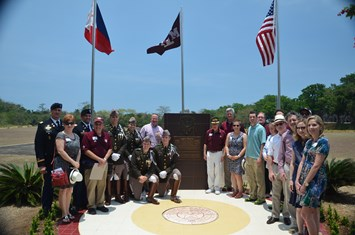 Aggies, friends and family dedicated the memorial on April 21, 2015.