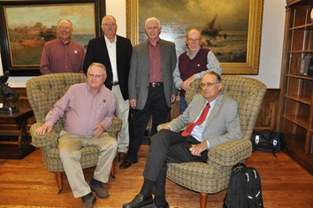 Seated L-R: Ken Robison and Lee Lanning; standing L-R: Howard Hoegemeyer, David Boethel, Jim Butler, and Bill Armstrong.