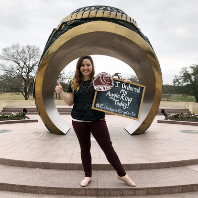 More Than 80 Friends Help Class Of '18 Aggie Get Her Ring