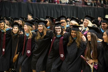 New former students saw 'em off at December 2017 commencement.