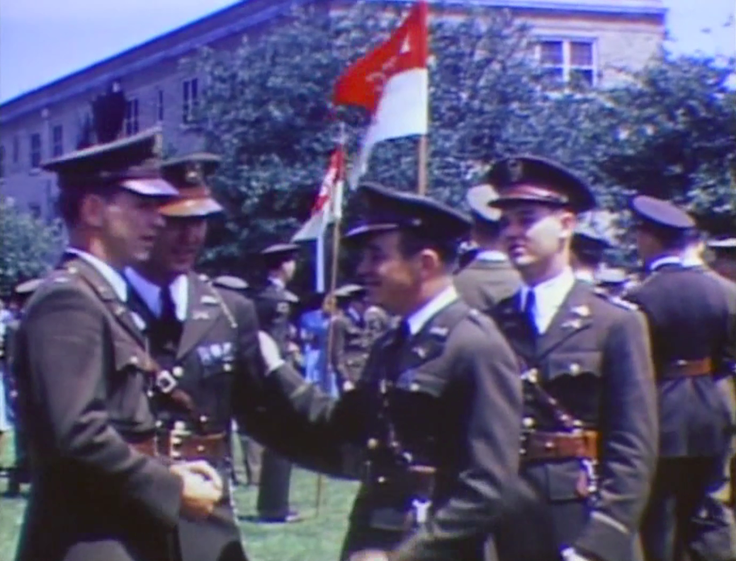 Rare color video of A&M's Final Review in 1942