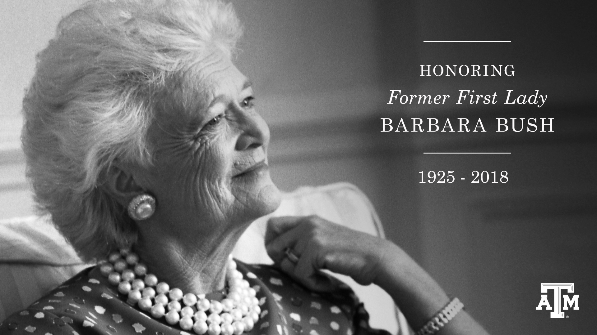 Barbara Bush Interment At Texas A&M On Saturday