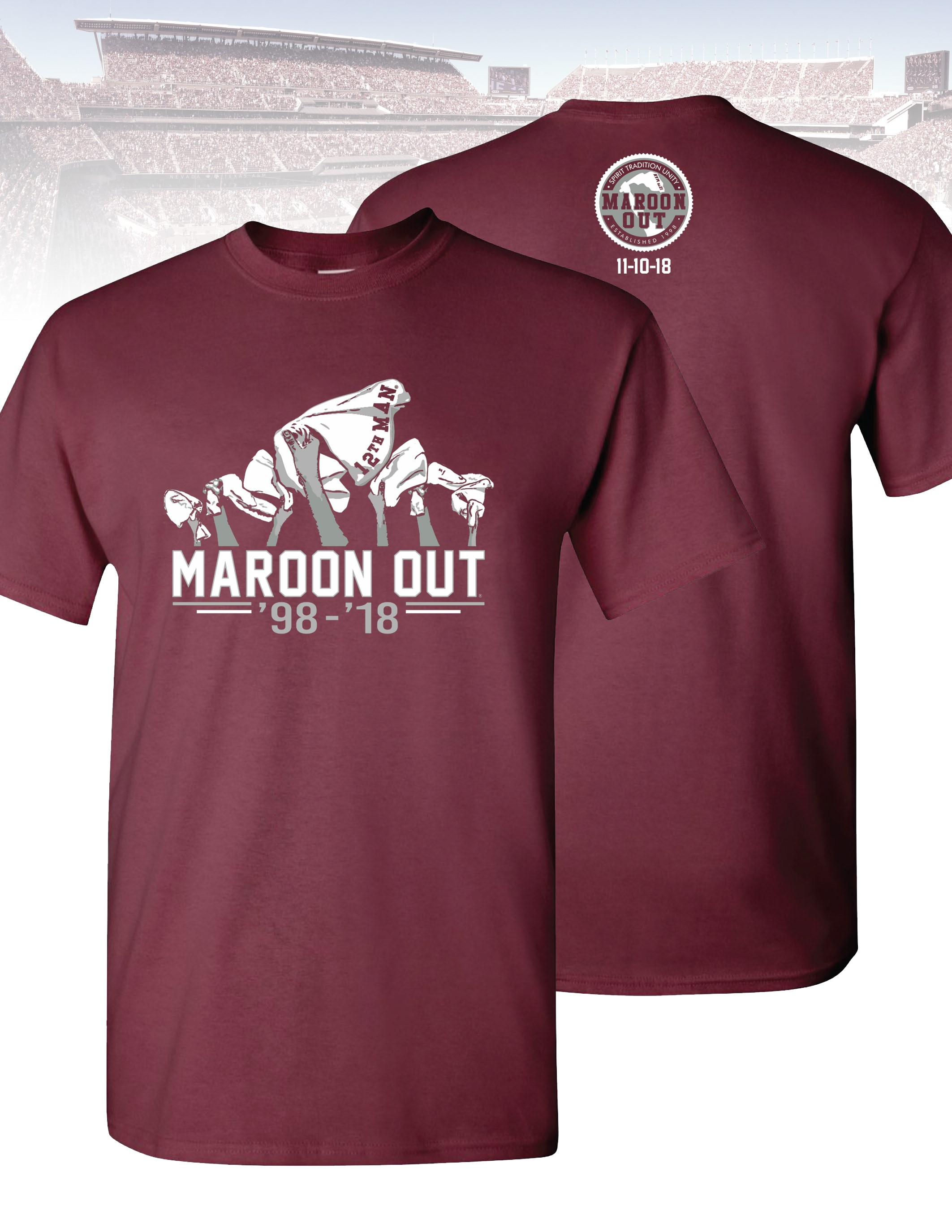 2018 Maroon Out Shirt Design Features 12th Man Towels