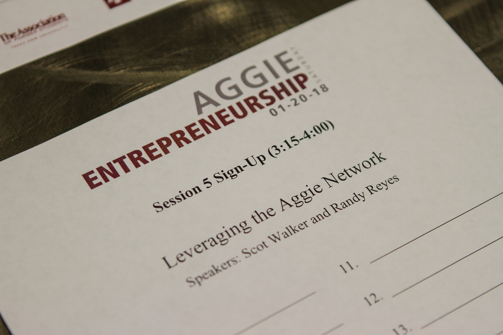 2019 Aggie Entrepreneurship Saturday To Be Rescheduled