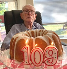 "At 109, Col. Tom C. ""Ike"" Morris is the oldest living Aggie."