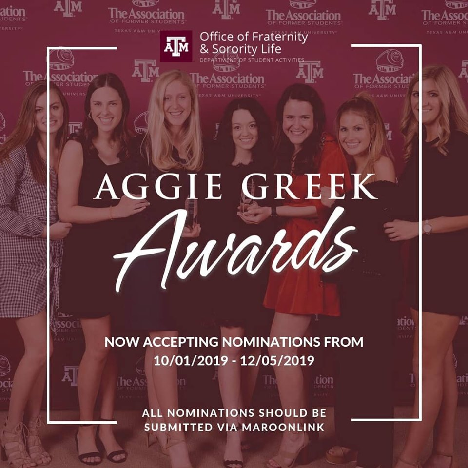 Nominations Open For Aggie Greek Awards