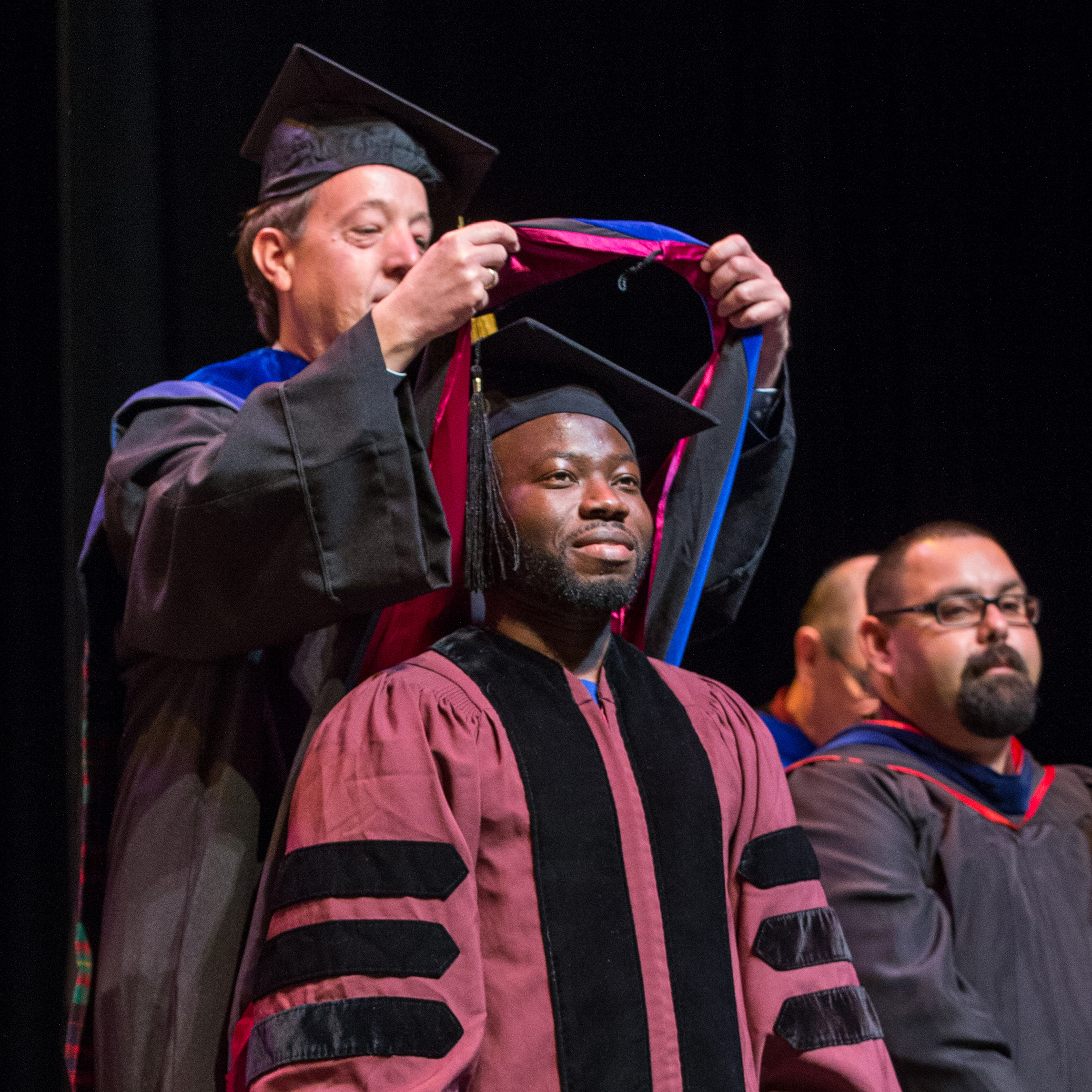 Doctoral Students Get Own Hooding Ceremony