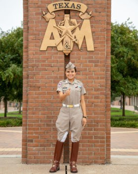 Cadet Receives Hispanic Network Boot Scholarship