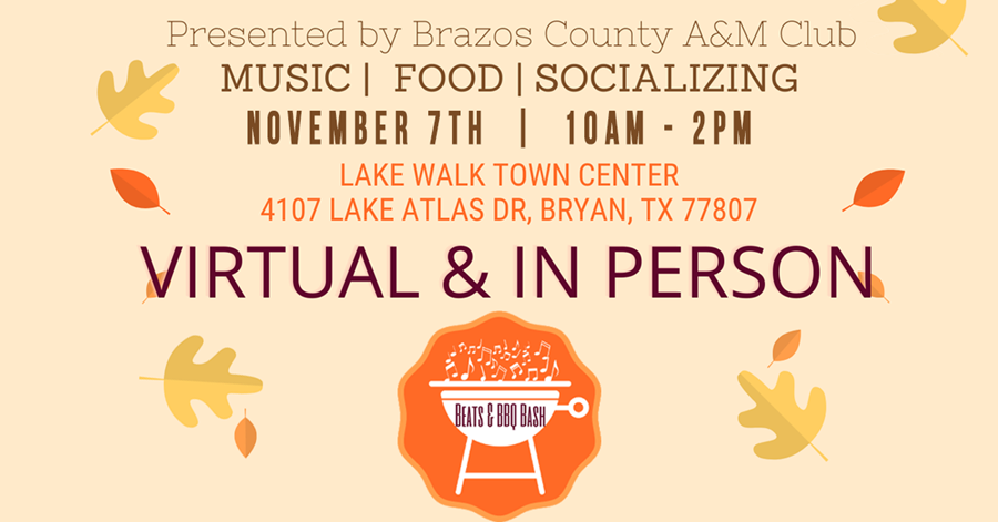 Brazos County A&M Club Beats & BBQ Bash Is Nov. 7