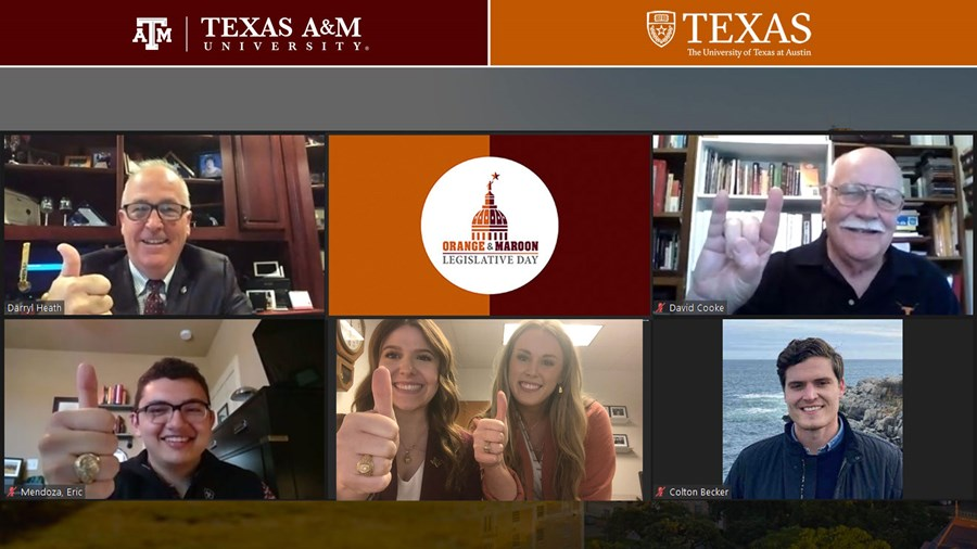 Aggie. Longhorn advocacy Event Goes Virtual